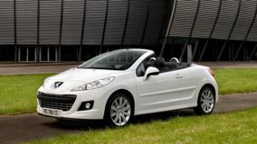 Peugeot 207 CC Restyled In White Side Pose